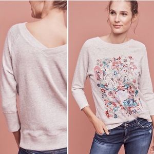 Anthropologie Postmark Paint by Number Sweatshirt